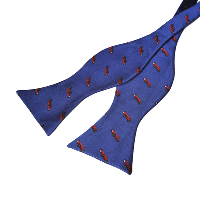 ace426d315f Paul Williams Designer Silk Royal Blue with Red Car design Self Tie Bow Tie