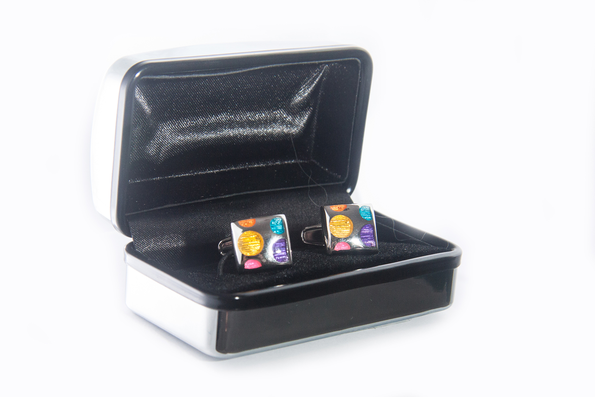 Square Spot Cuff Links
