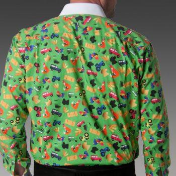 Countryside Fun Back Patterned Dress Shirt