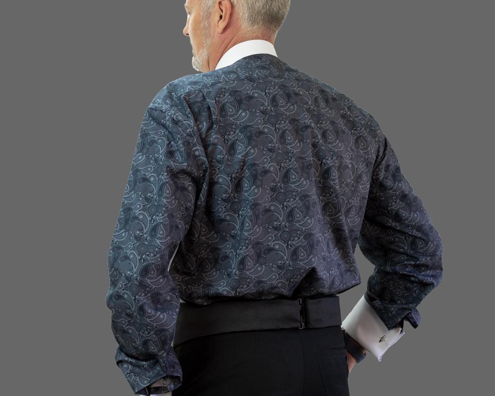 Grey Paisley Fun Back Shirt