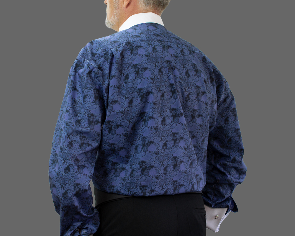 Navy Paisley Fun Back Shirt