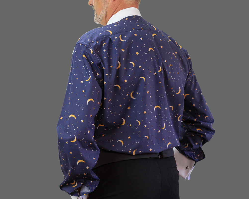 Stars and Moon Fun Back Dress Shirt